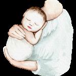 Illustration Mutter mit Baby
